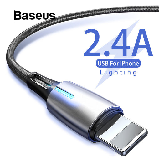 Baseus Water Charging Indicator Light Fast Charging Cable iPhone