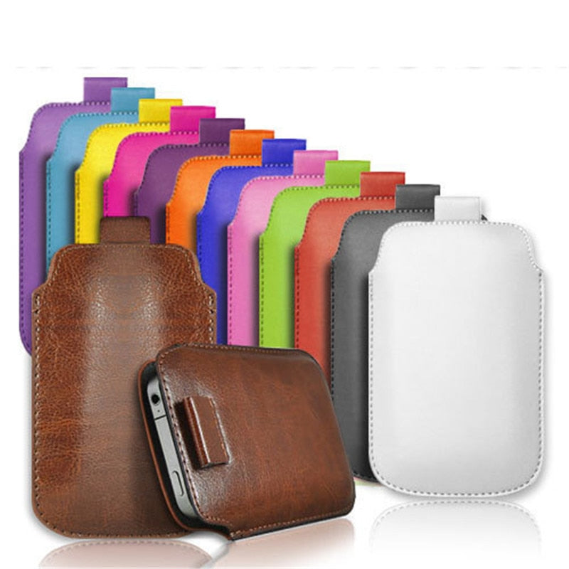 Ulefone Note 7 Case Universal Pull Tab PU Leather Sleeve Pouch Cover