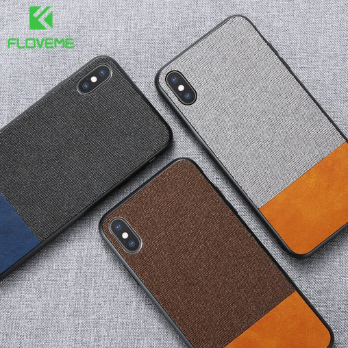 FLOVEME Cloth Skin Case For iPhone
