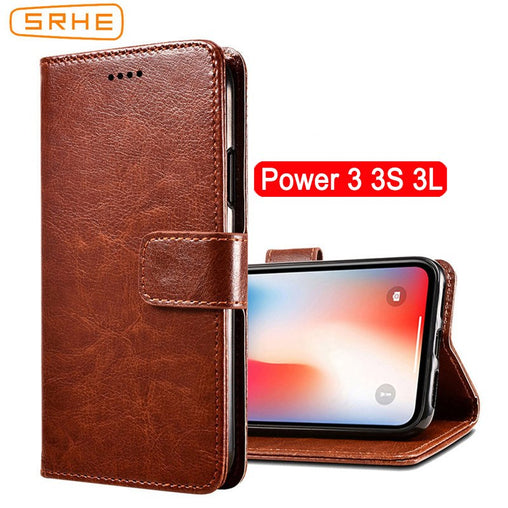 SRHE For Ulefone Power 3S Case Cover Flip Luxury Leather With Magnet Wallet Cover For Ulefone Power 3L Power3 Power 3 S Cases