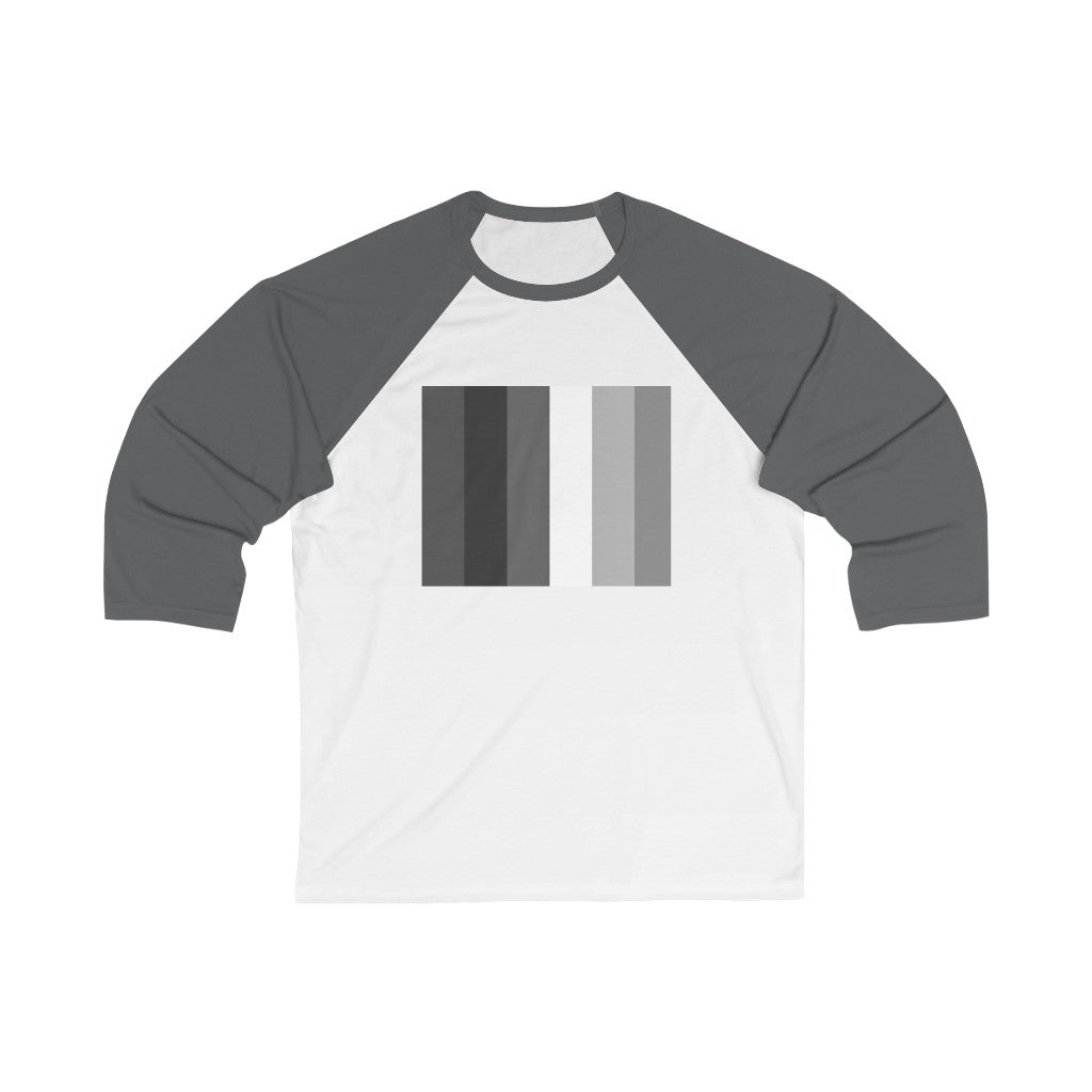 Gray Rainbow Baseball Tee