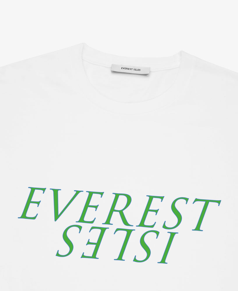 Everest Isles Graphic Seaweed Tee  – White