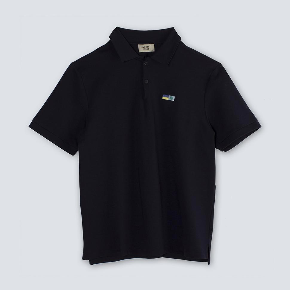 Embroidered Polo black shirt