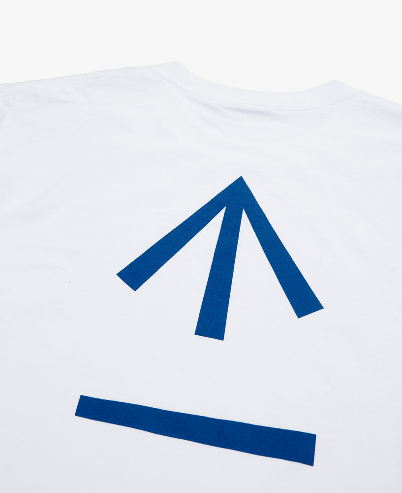 Arrow Graphic LS Tee  – White