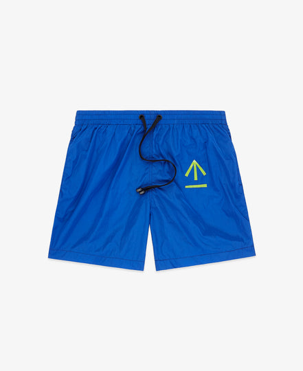 "Swimmer 7"" Arrow Print – Blue"