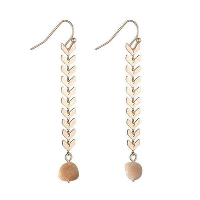 ASHLEY NATURAL STONE EARRINGS