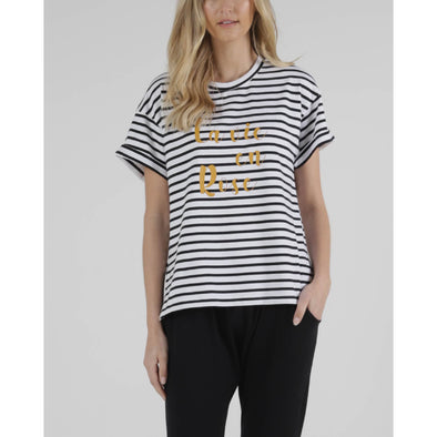 BOXY TEE | STRIPED