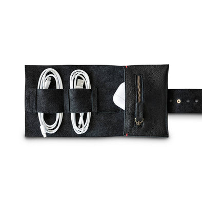 CORD ROLL | BLACK LEATHER