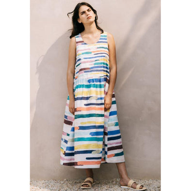 ELME DRESS | PAINTED STRIPE
