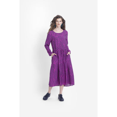 FRAJA DRESS | MAGENTA/MIDNIGHT