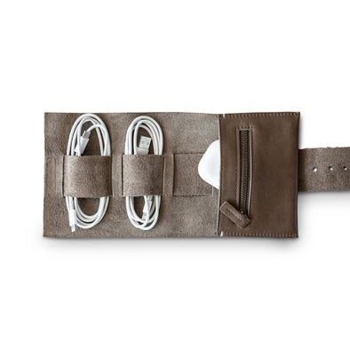 CORD ROLL | GREY LEATHER