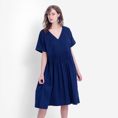 KARIS SMOCK DRESS | BLUE