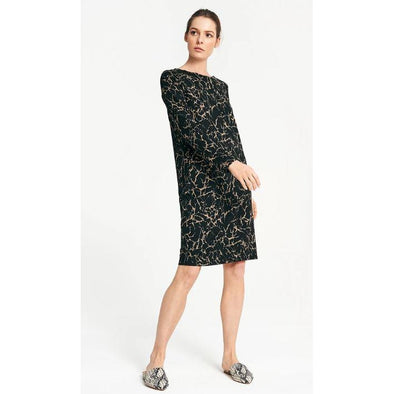 PRINT VIKT PONTE DRESS-CRACKLE PRINT