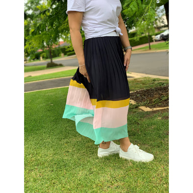 NINA PLEAT SKIRT | NAVY