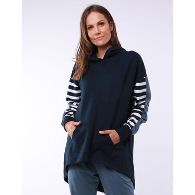 ALICIA SWING HOODY | NAVY