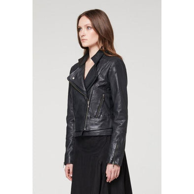 GOLDSMITH DOUBLE LAPEL LEATHER JACKET