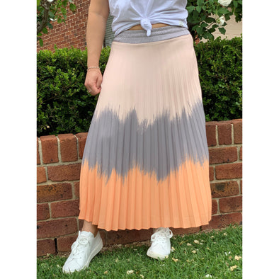 REEF PLEAT SKIRT | ORANGE