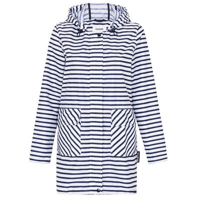 WOMEN'S 3/4 JACKET | RAINCOAT | ZIG STRIPE
