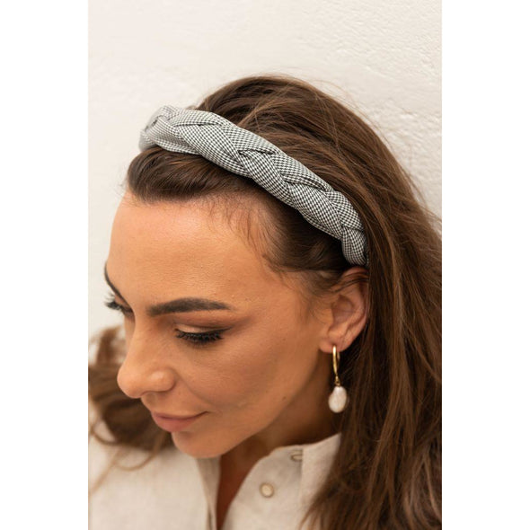 SOFIA HEADBAND | BLACK GINGHAM