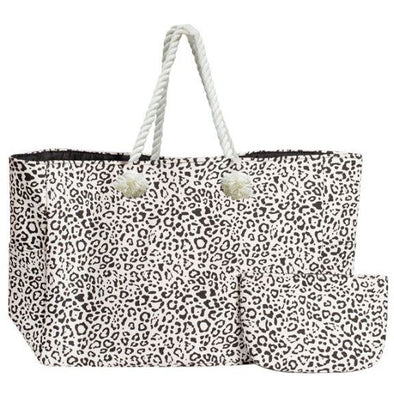 THE BIG TOTE BAG SET  W/LEOPARD