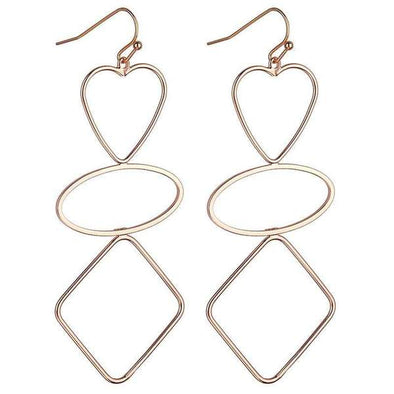 SUZETTE GEOMETRIC EARRINGS | ROSE GOLD