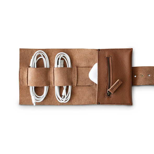 CORD ROLL | TAN LEATHER