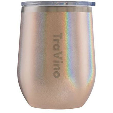 STEMLESS VACUUM INSULATED TUMBLER | GLITTER ROSE GOLD