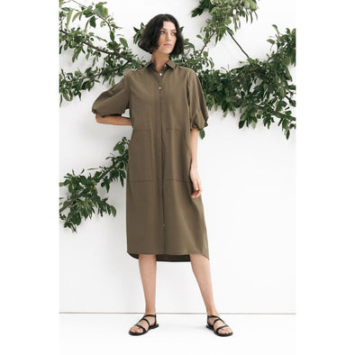 VANA SHIRT DRESS | SAGE