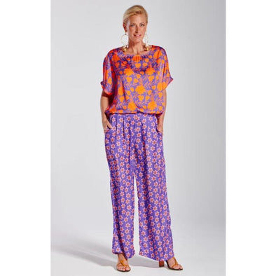 GEORGIE TOP - ORANGE/PURPLE