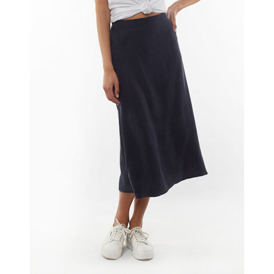 COURTNEY MIDI SKIRT | NAVY