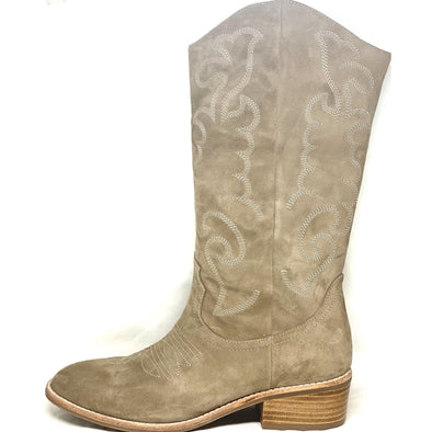 ZOELLE SUEDE BOOT | DK TAUPE