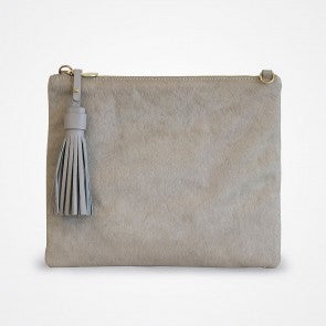 JEM GREY HIDE CLUTCH