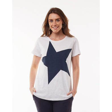 SUPERSTAR TEE | WHITE+NAVY STAR