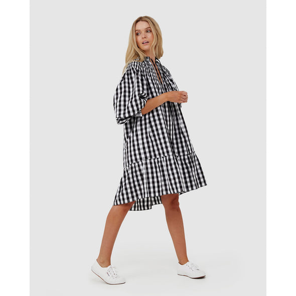 OLIVIA TUNIC | BLACK GINGHAM