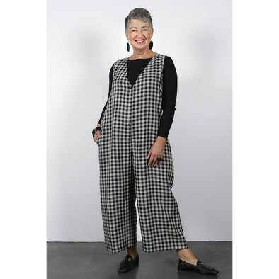 POPPY JUMPSUIT - BLACK CHECK