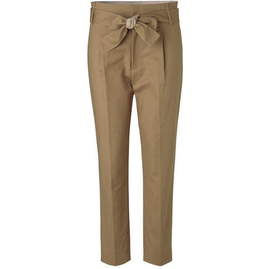 STRETCH TROUSERS WITH TIE