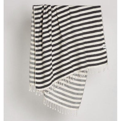 TRIBAL CANDY STRIPES TOWEL BLK