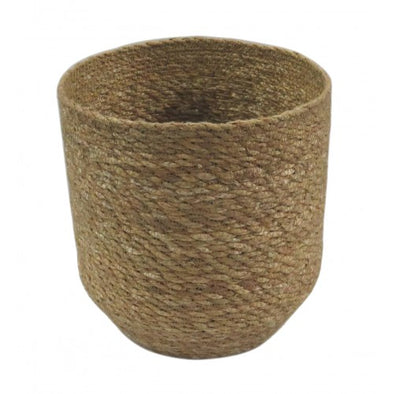 STITCH PLANTER NATURAL -16 cm