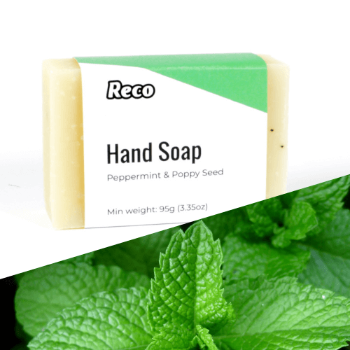 Reco BOXED Hand Soap bar - Peppermint and Poppy Seed