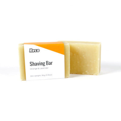 Reco shaving soap bar orange and lavender