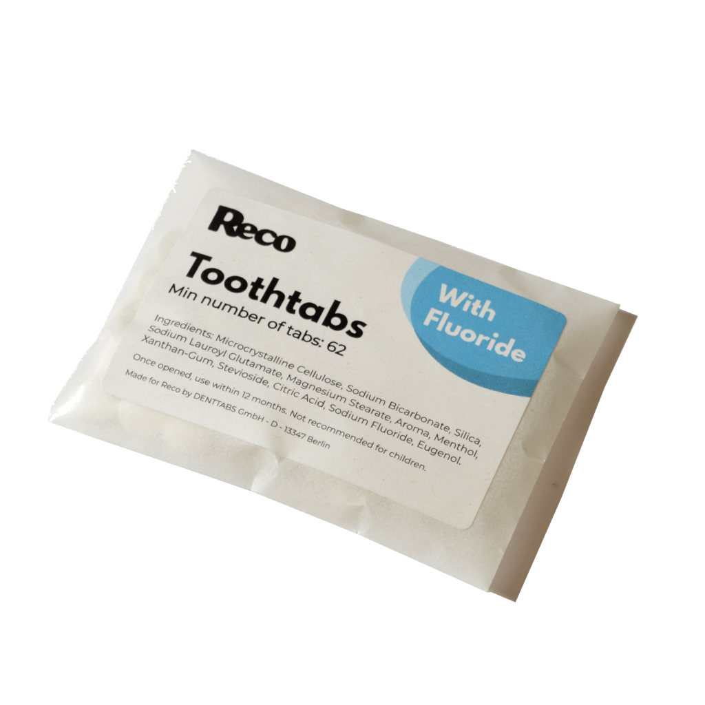 Reco Toothtabs - plastic free Toothpaste Tablets in a packet