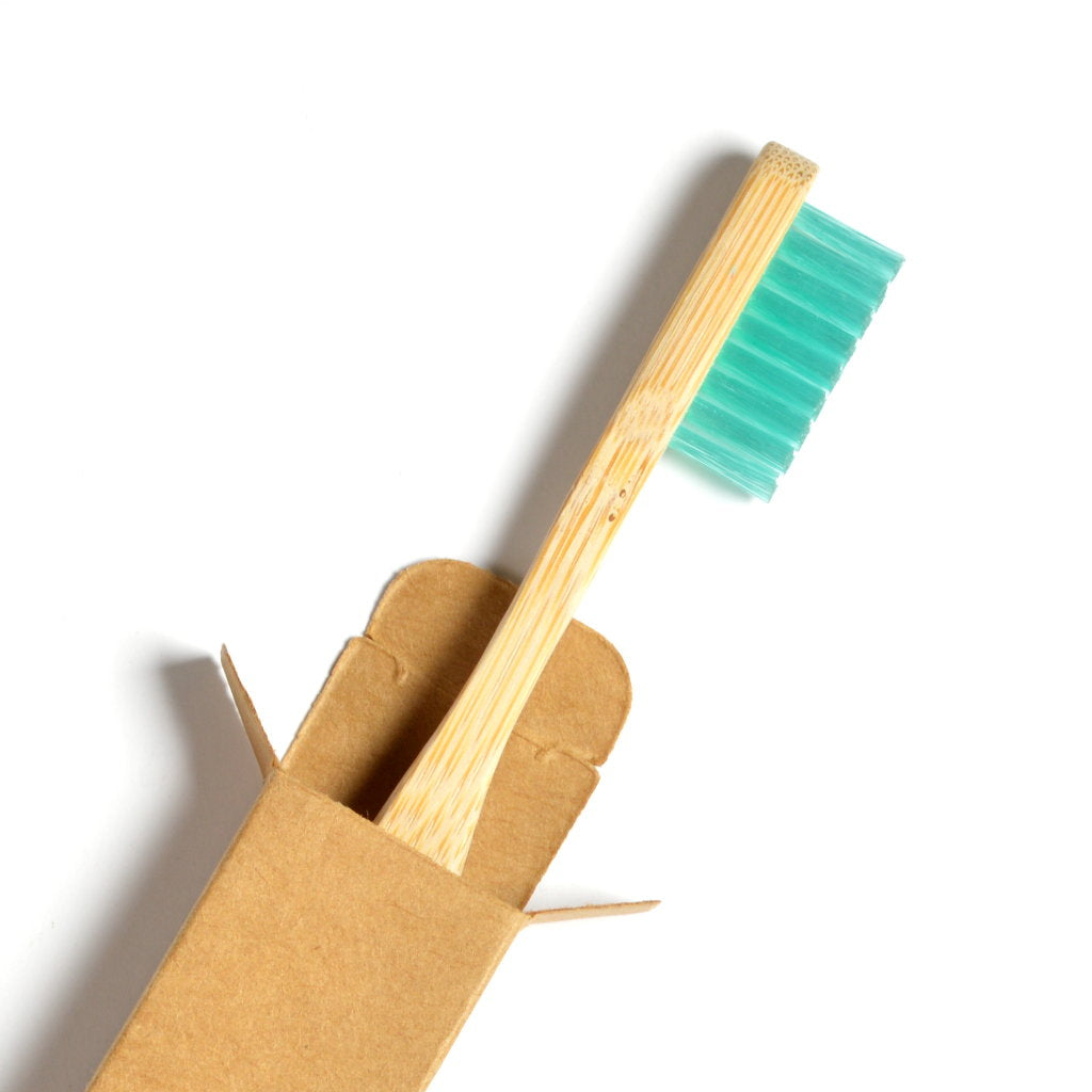 Reco Bamboo toothbrush in cardboard box