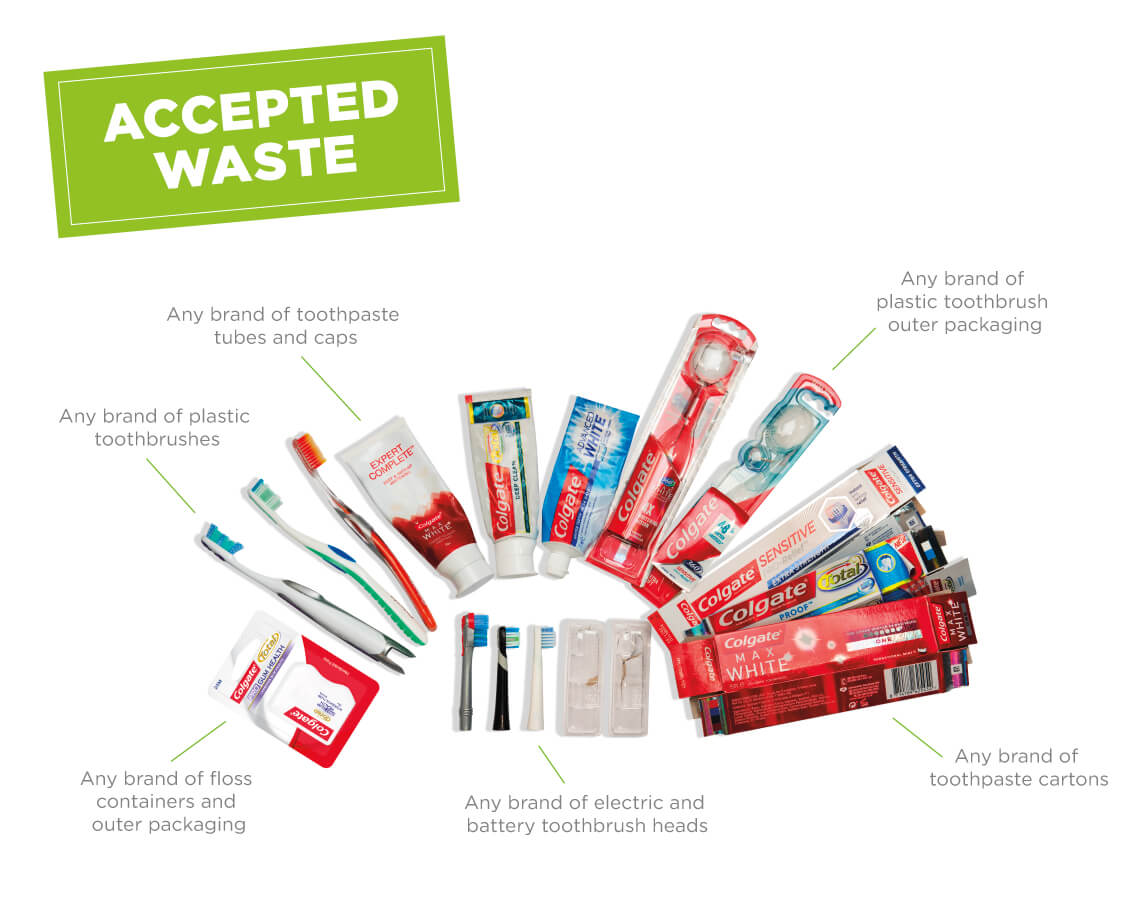 TerraCycle will recycle toothpaste tubes and other oral care items