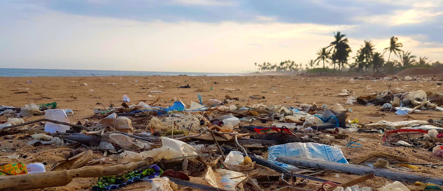 Beach in Togo with Rubbish