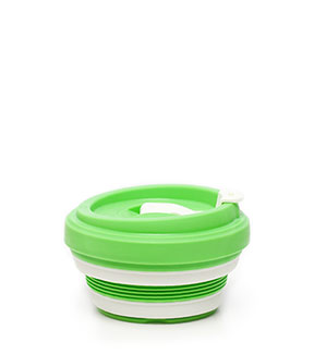 pokito collapsible coffee cup lime collapsed