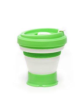 pokito collapsible coffee cup lime espresso