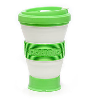 pokito collapsible coffee cup lime grande