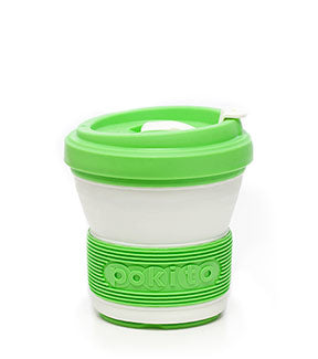 pokito collapsible coffee cup lime medio