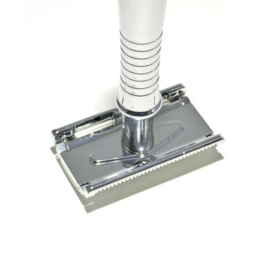 safety razor upside down