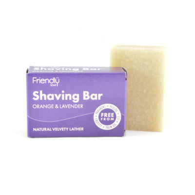 solid shaving soap bar from friendly soap